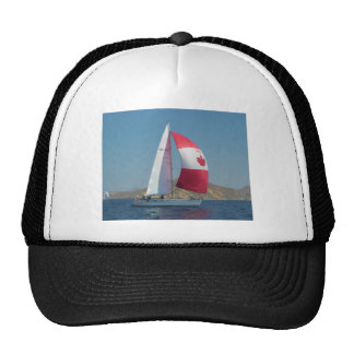 Racing Yacht With Canadian Spinnaker Cap