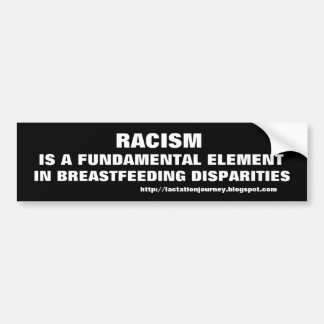 Racism/Breastfeeding Disparities Bumper Sticker