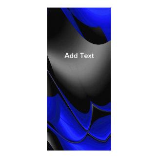 Rack Card Blue Black Abstract Rack Card Design