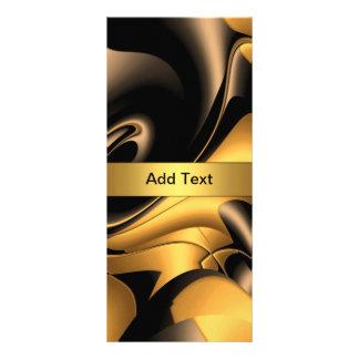 Rack Card Bronze Gold Abstract Rack Card Design