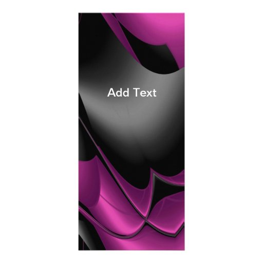 Rack Card Pink Black Abstract Rack Card