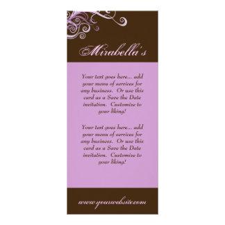 Rack Card Swirl Salon Spa Purple Brown
