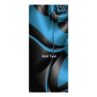 Rack Card Teal Blue Black Abstract Full Color Rack Card