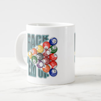 Rack Em Up 20 Oz Large Ceramic Coffee Mug