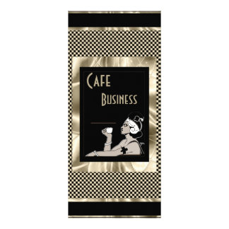 Rack Menu Card Cafe Business Art Deco Sepia Black