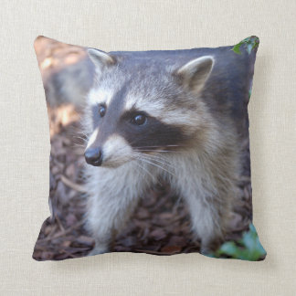 RACOON ~ RACCOON ~ photo Jean Louis Glineur Throw Pillow