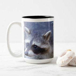 RACOON RACCOON ~ photo Jean Louis Glineur Two-Tone Coffee Mug