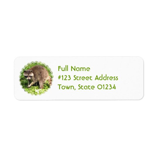 Racoon Return Address Mailing Label