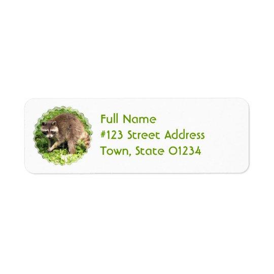 Racoon Return Address Mailing Label Return Address Label