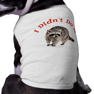 Racoon Sleeveless Dog Shirt