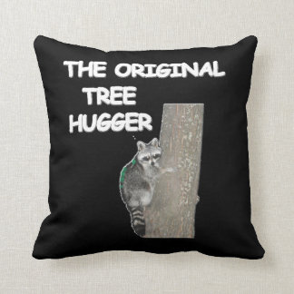 RACOON TREE HUGGER American MoJo Pillow Cushion