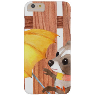 racoon with umbrella walking by fence barely there iPhone 6 plus case
