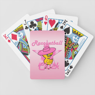 Racquetball Chick #8 Bicycle Playing Cards