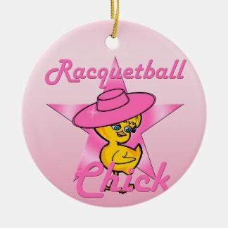 Racquetball Chick #8 Ceramic Ornament