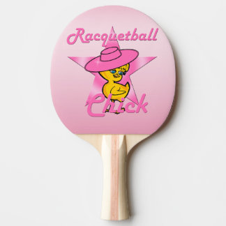 Racquetball Chick #8 Ping Pong Paddle