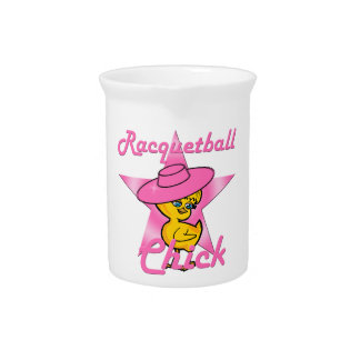 Racquetball Chick #8 Pitcher