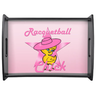 Racquetball Chick #8 Serving Tray
