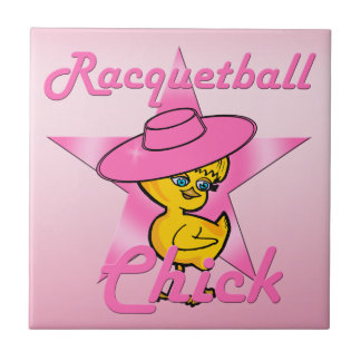 Racquetball Chick #8 Tile