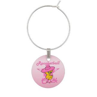 Racquetball Chick #8 Wine Charm