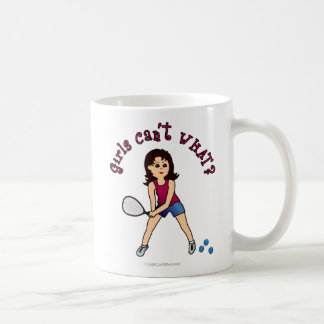 Racquetball Girl (Light) Coffee Mug
