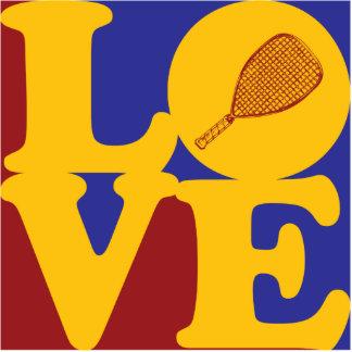 Racquetball Love Photo Sculpture Decoration