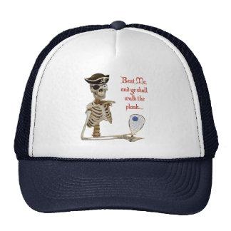 Racquetball Pirate Walk the Plank Trucker Hat