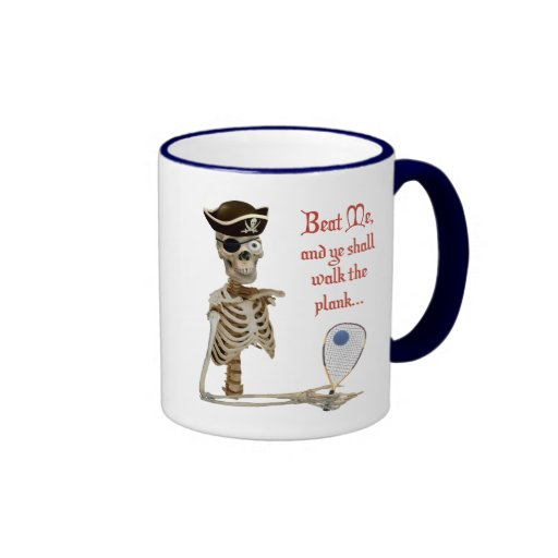 Racquetball Pirate Walk the Plank Coffee Mug