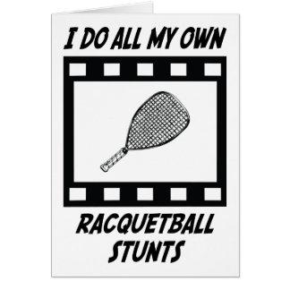 Racquetball Stunts Card