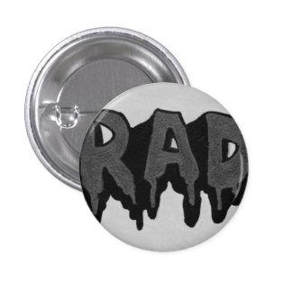 'Rad' Black and White Grunge Badge