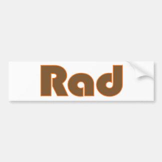 Rad Car Bumper Sticker