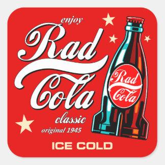 Rad Cola Square Sticker