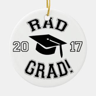 Rad Grad 2017 Round Ceramic Decoration