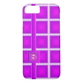 Rad Purple Magenta Starlight Vertical 3D Monogram iPhone 7 Case
