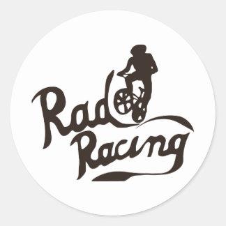 rad racing classic round sticker