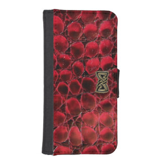 Rad Red Reptile Wallet Phone Case
