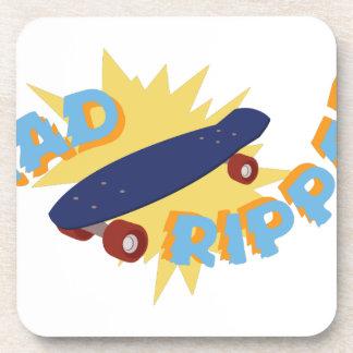 Rad Ripper Skateboard Beverage Coasters
