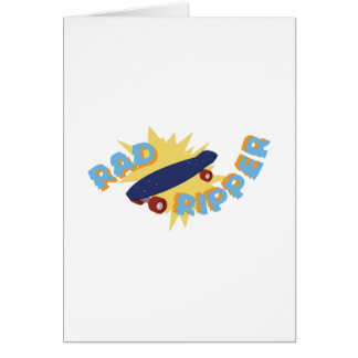 Rad Ripper Skateboard Card