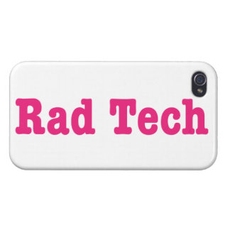 Rad Tech   Pink Text iPhone 4 Covers