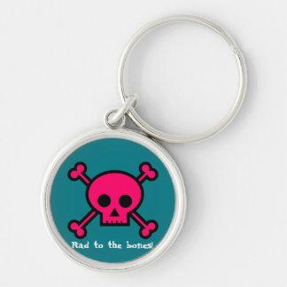 Rad to the bones! key ring