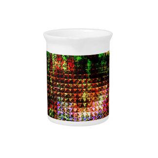radar kaleidoscope pattern pitcher