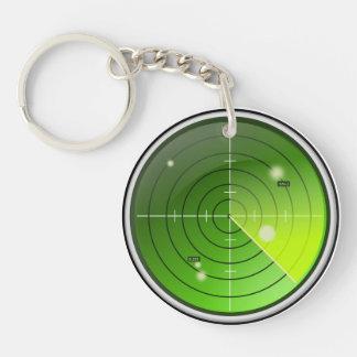 Radar Single-Sided Round Acrylic Key Ring