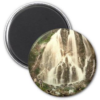 Radaufall, Harzburg, Hartz, Germany rare Photochro 6 Cm Round Magnet
