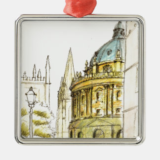Radcliffe Camera original drawing Metal Ornament