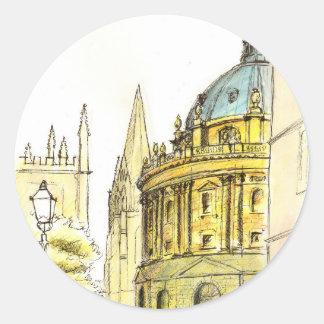 Radcliffe Camera original drawing Round Sticker