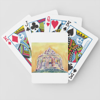 Radcliffe camera - watercolour painting bicycle playing cards