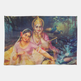 Radha and Krishna kitchen towel