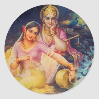 Radha and Krishna sticker