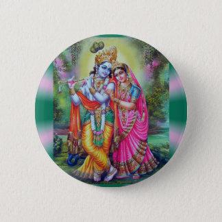 Radha Krishna 6 Cm Round Badge