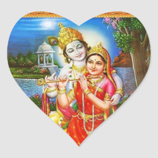 RADHA Krishna - in my Heart Collection Heart Sticker