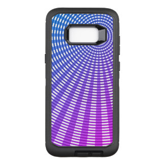 Radial Circular Weaving Pattern - Blue Shade OtterBox Defender Samsung Galaxy S8+ Case